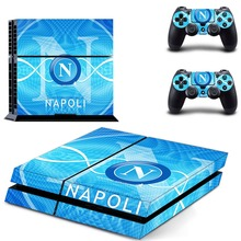 Napoli Football Team PS4 Skin Sticker Decal Vinyl for Playstation 4 for Dualshock 4 Console and 2 Controllers PS4 Skin Sticker