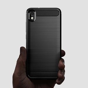 "Image 5 - For Xiaomi Redmi 7A Case Shockproof Brushed Carbon Fiber Soft Bumper Case Cover for Xiaomi Xiomi Redmi 7A 2019 5.45"" Phone Cases"