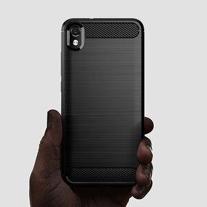 "Image 5 - Funda a prueba de golpes para Xiaomi Redmi 7A, funda de fibra de carbono cepillada para Xiaomi Xiomi Redmi 7A 2019 5,45"""