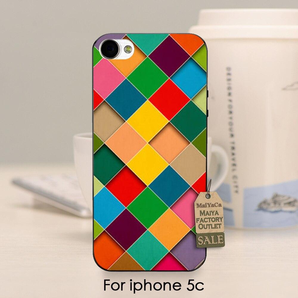 Colorido mosaico de diamantes impresos de alta calidad teléfono accesorios cubie