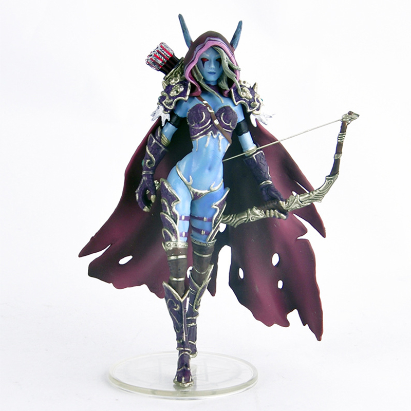 WOW Action Figure Lich King Alsace Sylvanas Windrunner Anime Figure Toy Classic Game Toys For Boys Gift With Retail Box hot wow dc7 fall of the lich king arthas action figure model toy 21cm free shipping ka0447