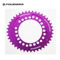 Fouriers CNC Owalne MTB Mountain Bike Pojedynczy Łańcuch Pierścień PCD 104mm Fit S H I M A N O Wąskim szeroki Zębów Chainrings fioletowy