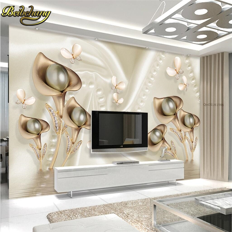 D Living De beibehang tv background papel de parede 3d wall wallpaper for living