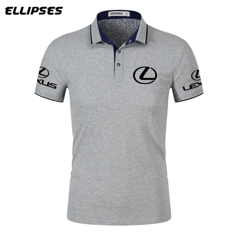 Lexus Car Polo Shirt For Man Summer Lexus Logo Polo Shirt Short Sleeve For Male Cotton Turn-down Collar Tops Polo Shirt Men