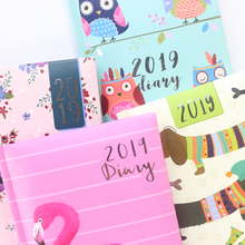 Domikee 2019 year calendar school student daily weekly planner notebooks stationery,cute cartoon portable diary time organizer