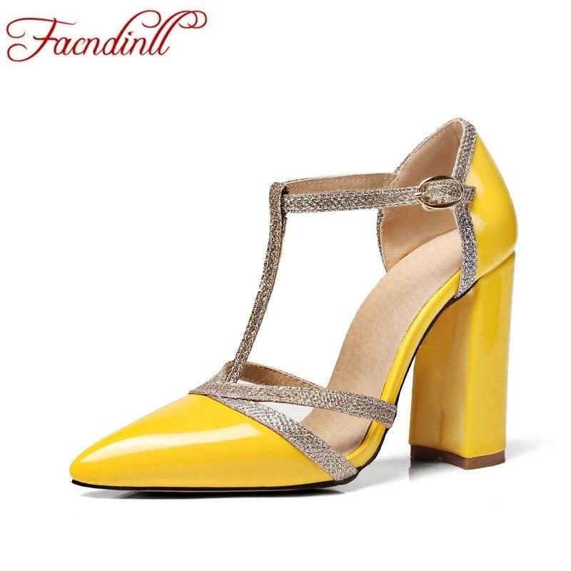 все цены на FACNDINLL women pumps new sexy super high heels pointed toe shoes woman dress party pumps ladies office wedding women shoes