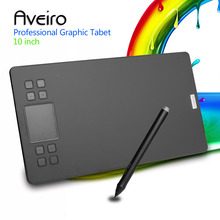 Aveiro Original 10 Inch Professional Graphic Tablet 8192 Levels Digital Drawing Tablets No need charge Pen Tablet new huion giano wh1409 14 inch wireless digital tablets graphic tablets pen tablet animation drawing tablet build in reader card