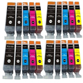 20pcs Canon 525 526 Ink Cartridge for Pixma iP4850 iP4950 iX6550 MG5150 MG6120 MG6150 MG6220 MG6250 MG8150 MG8250 Printer