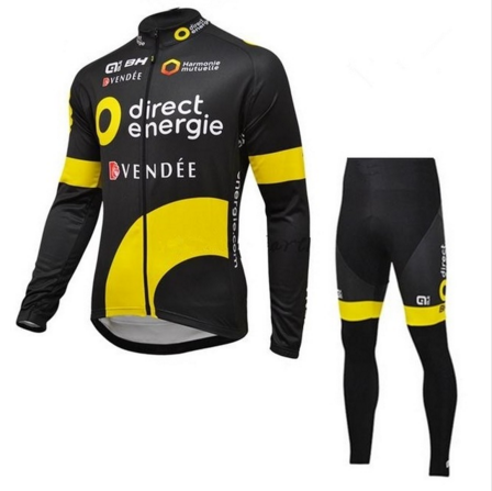 2016 Direct energie BH ALE long sleeve cycling wear clothes bicycle cycling jersey bib pants set ropa maillot ciclismo clothing
