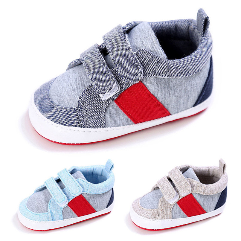 Toddler Shoes First Walker Newborn Infant Baby Boys Girls Patch Anti-slip Soft Shoes Fashion Cotton Shoe For baby A84L25