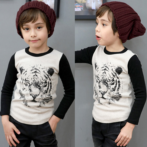 2016 baby boys animal print t shirt toddler long sleeve for Leopard print shirts for toddlers