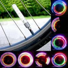 2 x Bike Bicycle Wheel Tire Valve Cap Spoke Neon 5 LED Lights Lamp 32 changes