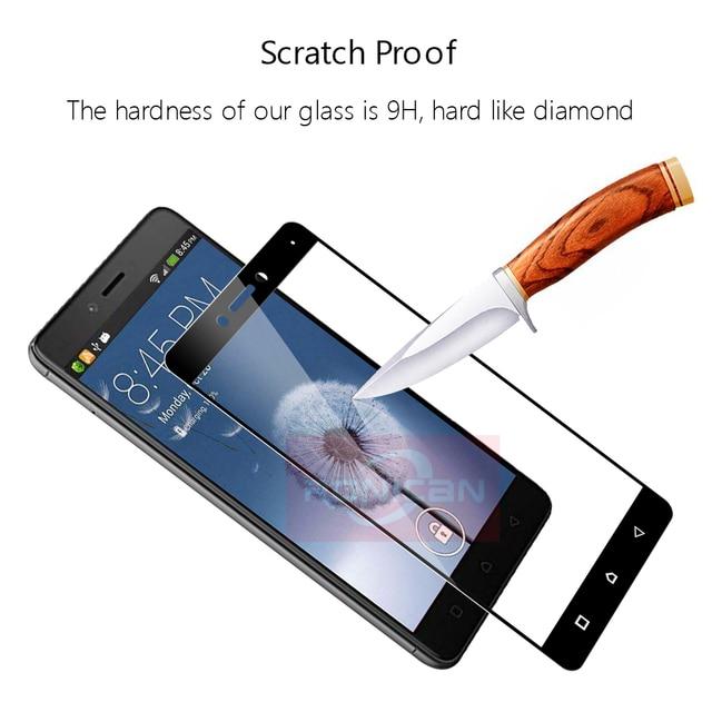 """Full Cover Tempered Glass For Lenovo K6 Note Phone Screen Protector Glass For Lenovo k6 note K53a48 5.5"""" Protective Film 2.5D 9H 4"""