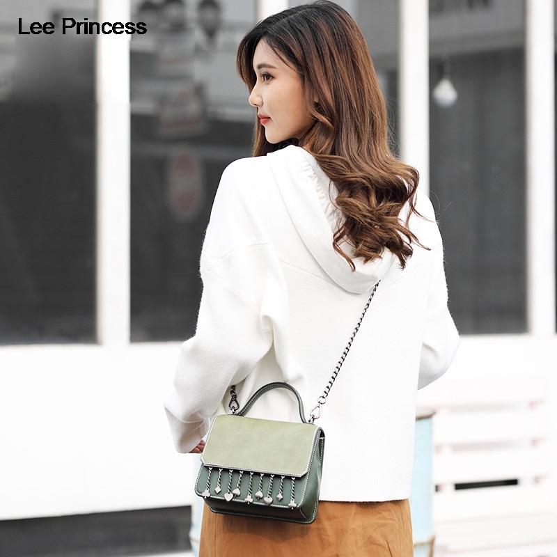Lee Princess Girls Shoulder Messenger Bag Female Crossbody Bags For Women Chain Tassel Diamonds Design Handbag