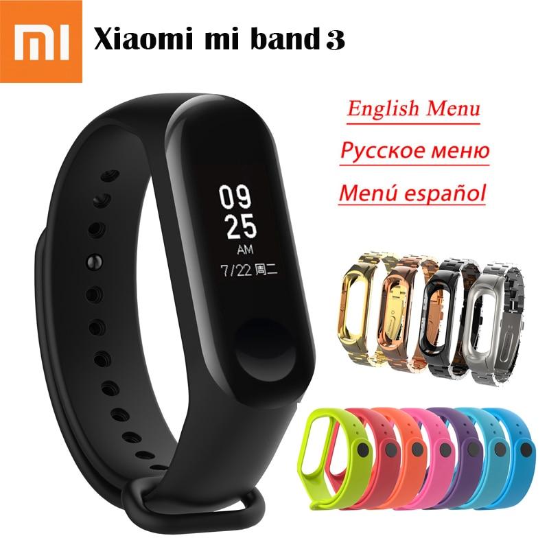 Original Xiaomi Mi band 3 Smart band Wristband Bracelet Miband 3 OLED Display Fitness Mi band Tracker Waterproof Correa Watch цены онлайн