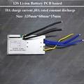 13 S 48 V Batería de iones de Li PCB junta 54.6 V Litio BMS con 60A corriente de descarga para la motocicleta eléctrica protección y e-scooter