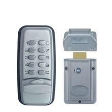 Keyless Digital Machinery Code Keypad Password Entry Door Lock With Rim Lock Latch