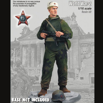 1/16 resin figure soldier model Soviet soldiers elite assault troops gk hand to do white mold World War II 193