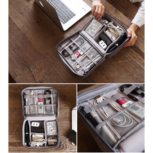 Travel Organizador Portable Digital Accessories Gadget Devices Organizer USB Cable Charger Tote Case Storage Cable Organizer Bag