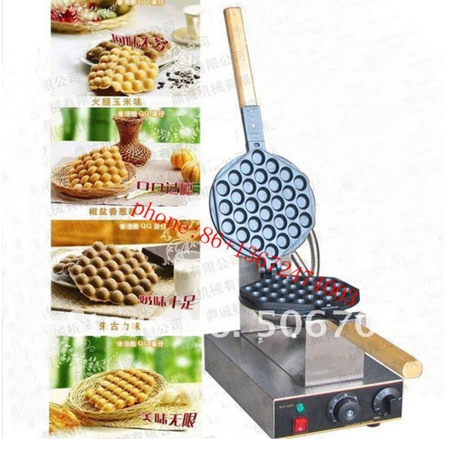 Free shipping Buy one get 6 gifts Egg waffle maker Non-stick Commercial waffle machine