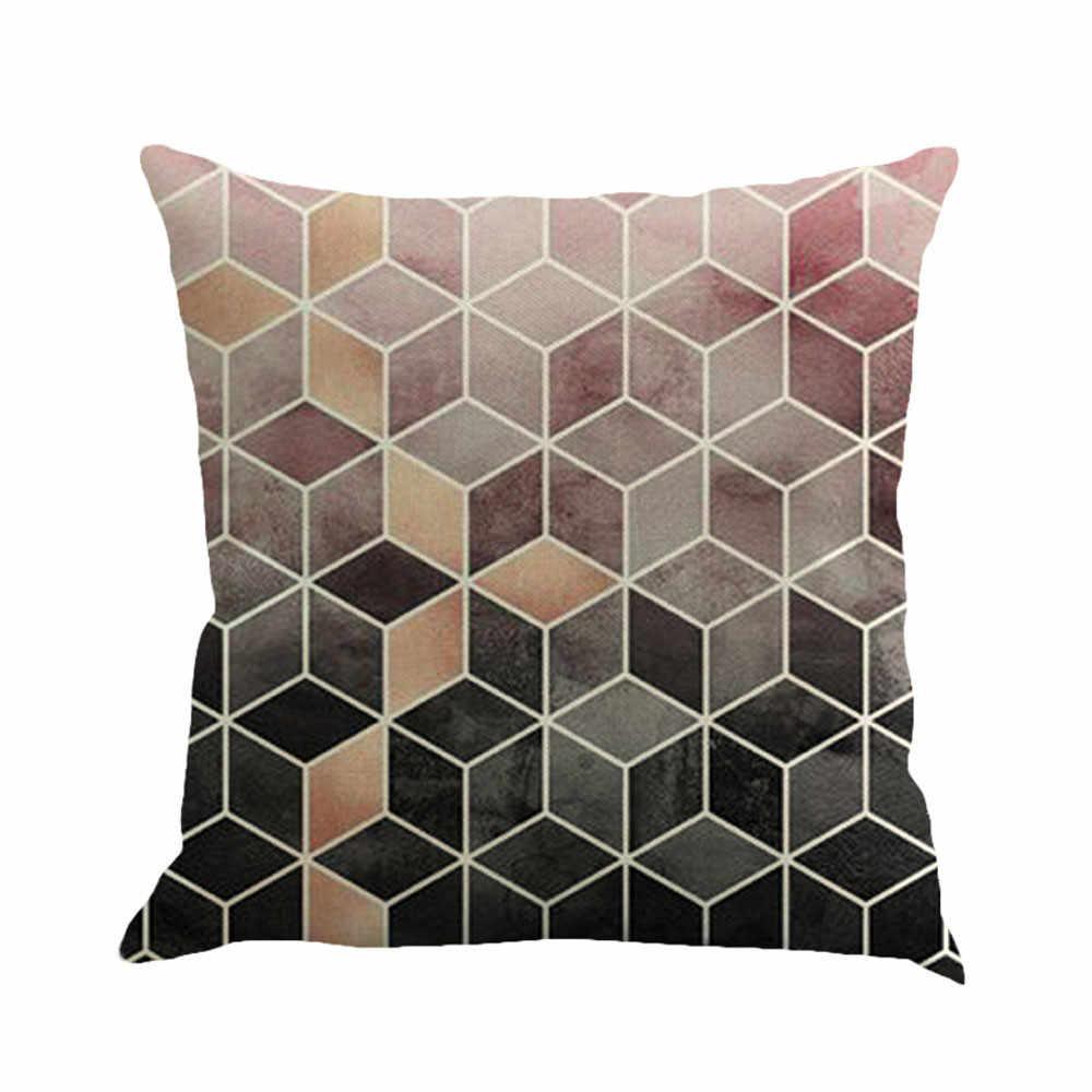 2020 Hot Geometria Pittura Biancheria da Letto in Cotone Lenzuola E Federe Cuscini Decorativi # T2