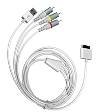 High Quality USB Dock Connector To TV RCA Video Composite AV Cable Adapter For Apple iPad 2 3 For iPhone 3GS/4/4S/iPod