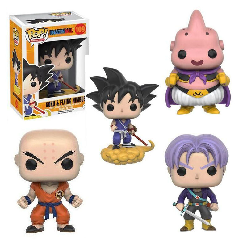 Happy Toy Market New Dragon Ball Z Goku Krillin Buu Torankusu Piccolo Frieza Cell Vegeta Action Figures Funko Pop Dragonball PVC Model Toys