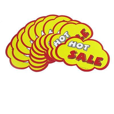 10 Pcs Shops Hot Sale Printed Cloud Shaped Brim Advertising Pop Price Tags