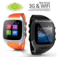 """X01 smart watch mtk6572 dual core 1.54 """"หน้าจอ512เมกะไบต์Ram 4กิกะไบต์รอมAndroid 4.4บลูทูธ3กรัมWIFIกล้องS Mart W AtchสำหรับiOS A Ndroid"""