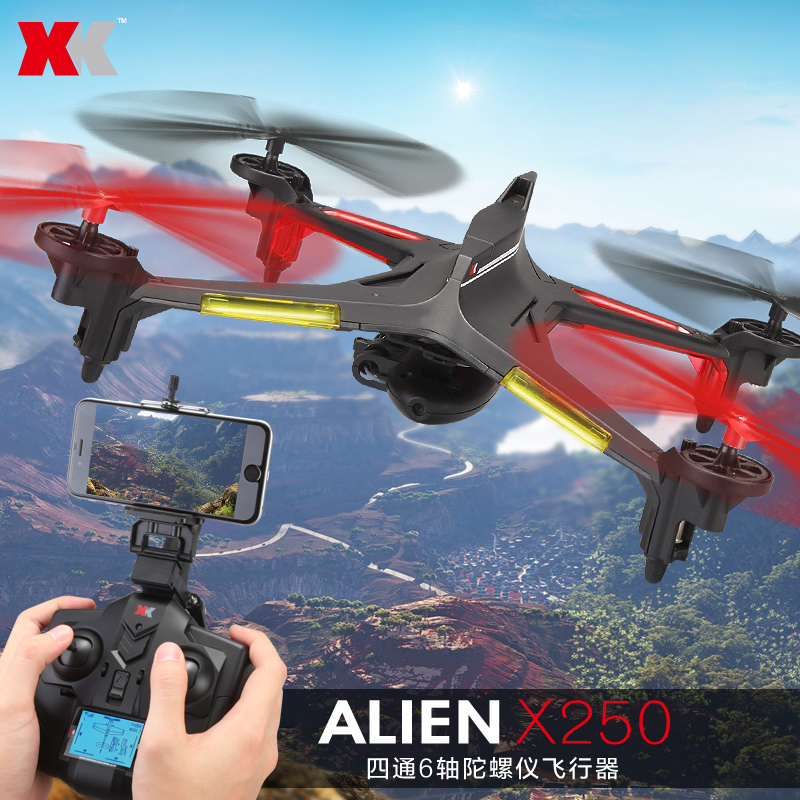 XK X250 WIFI Verion with 2MP Camera 4CH 6 Axis RC Quadcopter RTF Compatible With Futaba S-FHSS Christmas gifts xk x250 4ch 6 axis rc quadcopter rtf 2 4g xk alien x250 free shipping