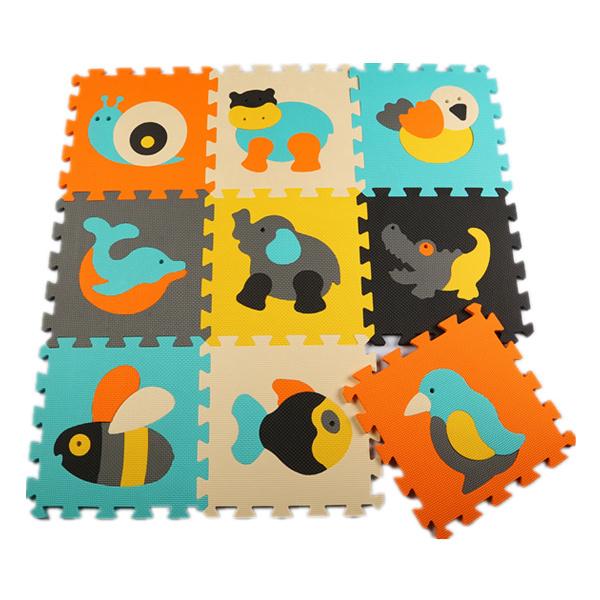 9 Pçs/set desenvolvimento suave infantil rastejando tapetes, jogo do bebê Tapete puzzle de espuma dos desenhos animados mat, piso pad para jogos do bebê almofada