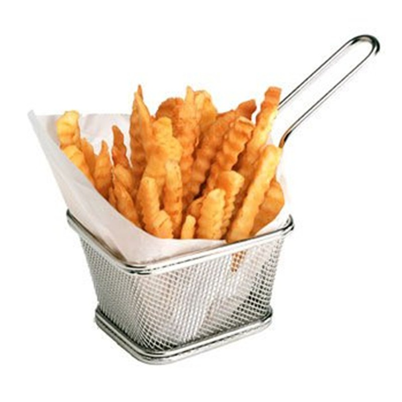 Chips Mini Fry Baskets Stainless Steel Fryer Basket Strainer Serving Food Presentation French Fries Basket