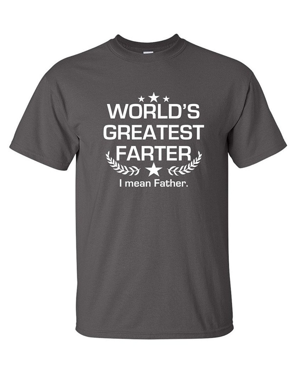 Newest 2018 T Shirt Fashion MenS Short Sleeve Zomer O-Neck Worlds Greatest Farter I Mean Fathers Day T Shirts
