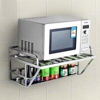 Oferta Estante para horno de microondas de acero inoxidable A1 304 estante de cocina soporte colgante de