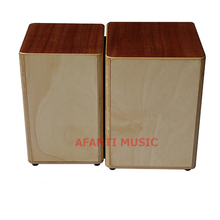 Afanti Music Mahigany / Birch Wood / Natural Cajon Drum (KHG-202)