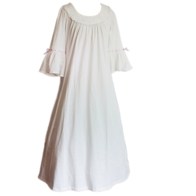 Algodão 100% camisola longa nightgdress princesa pijamas para menina