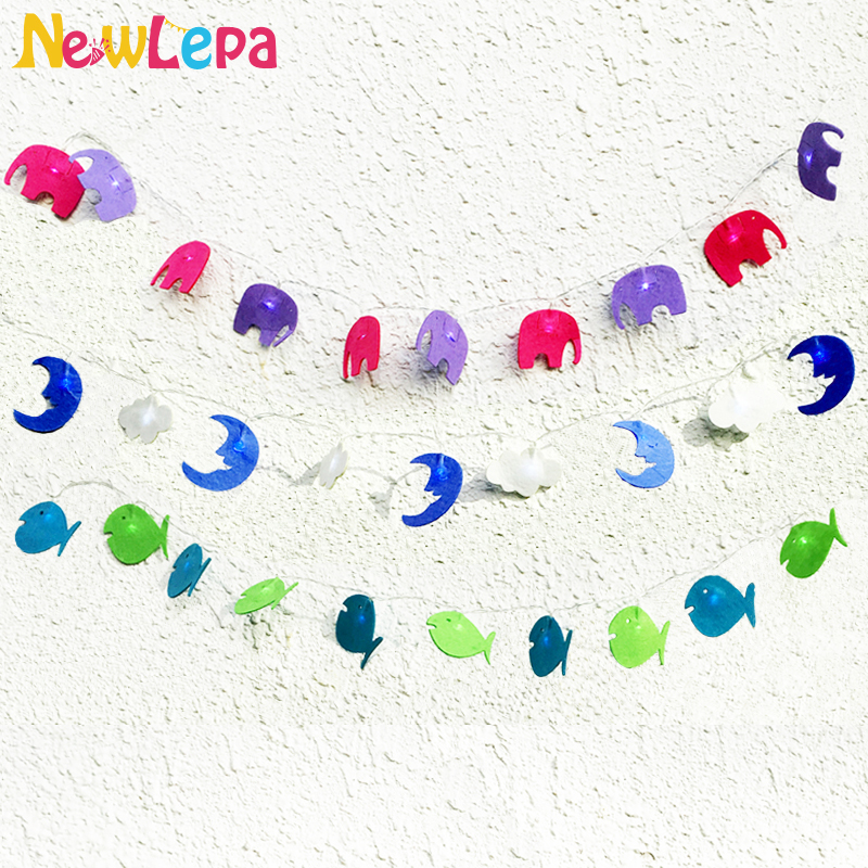 Elephant Moon Fish 10pcs Led Light Children Tent Wedding Birthday Party Decorative Photo Props