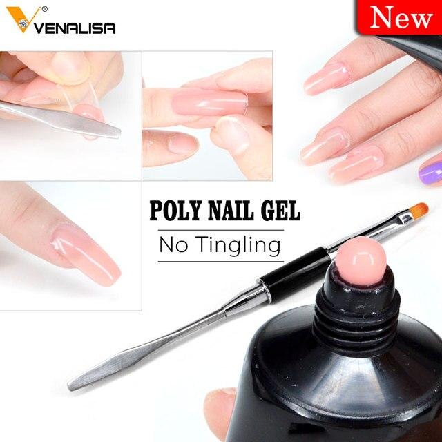 Venalisa nail art transparent camouflage couleur fiber de verre dur gelée rapide ongles bâtiment étendre gomme acrylique poly gel 1