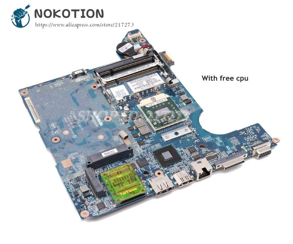 NOKOTION 575575-001 NBW20 LA-4117P Laptop Motherboard For HP DV4 MAIN BOARD Sokcet S1 DDR2 Free CPU