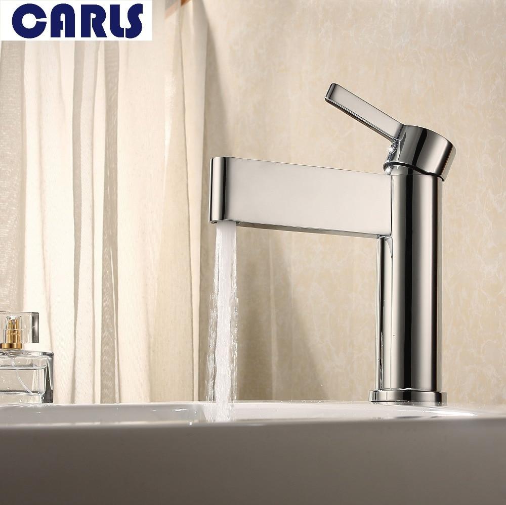 Copper cold basin faucet bathroom single hole basin faucet lavatory ...