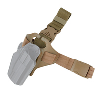 TMC Tactical Thigh Pistol Holster Panel Safariland Drop Thigh Holster Leg Pouch Single Strap Airsoft Gear Military
