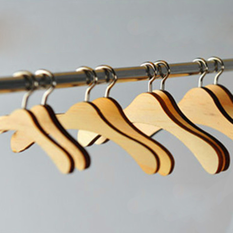 Mini Wooden Clothes Bracing Clothing & Accessories For Plush Stuff 1/3,1/4,1/6 Bjd Doll Clothes Hangers