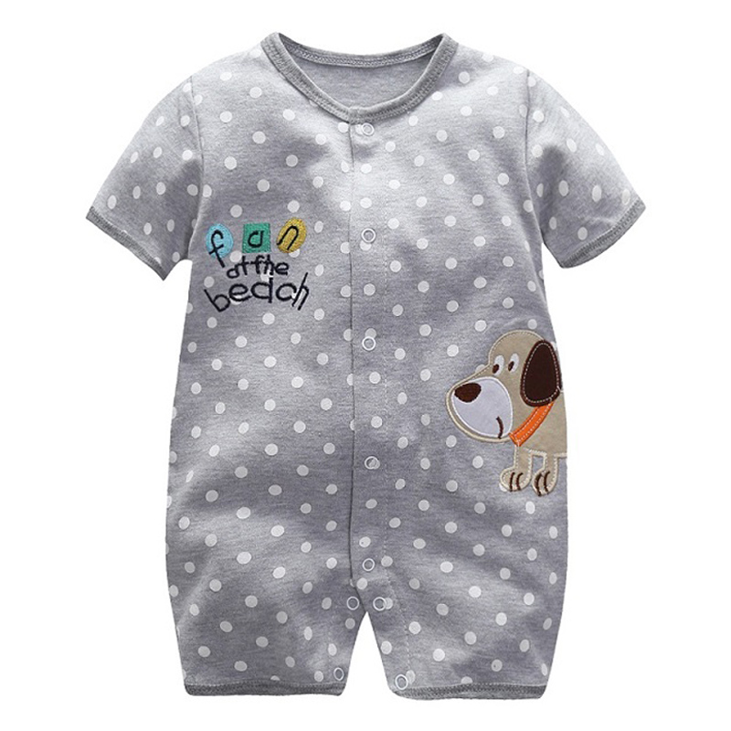 Summer Cartoon Baby Rompers Infant Boy Girl Jumpsuits Short Sleeve 100% Cotton Newborn One Pieces Toddler Clothes Newborn