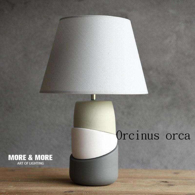 Nordic лампа спальня прикроватный творческий керамические простой современная мода прекрасный теплый свет ночники