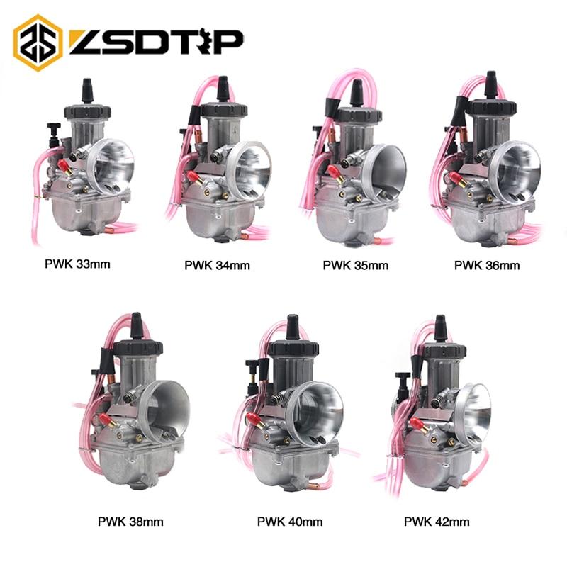 ZSDTRP moto 2 T/4 T moteur PWK carburateur 33 34 35 36 38 40 42mm pour Scooter universel modifié UTV ATV Dirt Bike