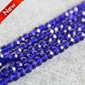For Necklace&Bracelet 6x8mm Faceted Dark Blue AB+ glass Crystal Jasper beads loose jade DIY Jewelry making design wholesale