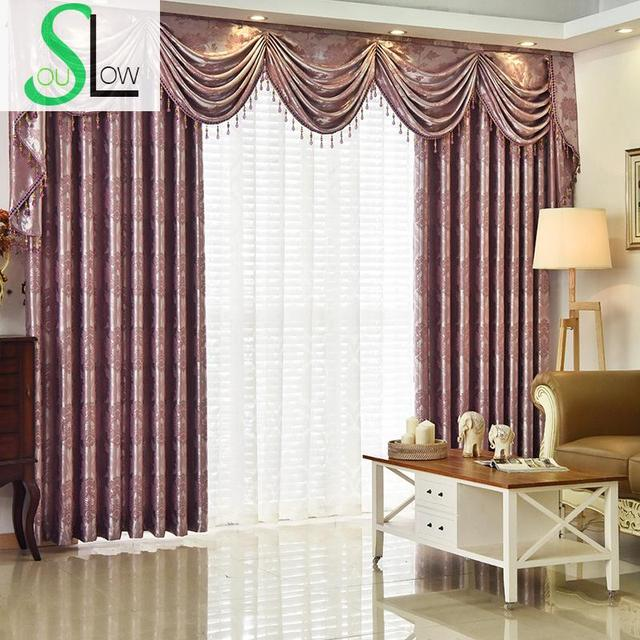 Superbe Slow Soul White Yellow Purple Mauve Grey Modern European Jacquard Curtains  Drapes Living Room Bedroom Curtain