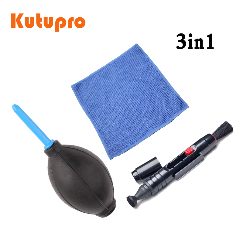 3in1camera cleaning kit 1x camera professional  pen + dust blower+ Cleaning Cloth Kit For Canon Nikon Sony DSLR Camera