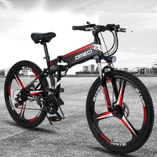Folding mountain bicycle 48V lithium battery in frame 350w brushless motor top speed 30-35km/h max range 50-60km pas