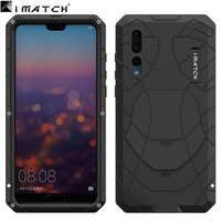 For Huawei P20 pro Case aviation Aluminum alloy metal+Silica back cover for huawei P20pro cases 6.1 inch